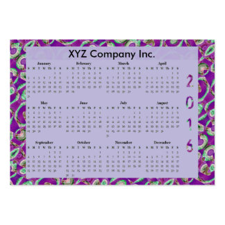 Fancy Purple Mosaic 2016 yearly Calendar Pack Of Chubby Business Cards