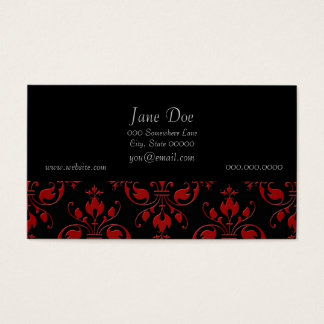 Fancy Red and Black Damask