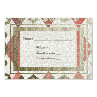 Fancy Red and Gold Harlequin Medieval rsvp Personalized Invitation