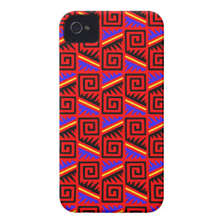 Fancy Red Mexican Pattern iPhone 4 Case