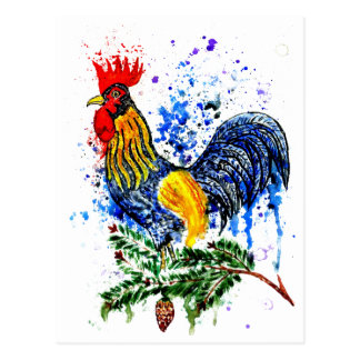 Fancy Rooster Art 5 Postcard
