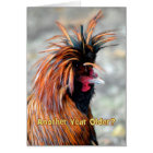 Fancy Rooster Happy Birthday Humour Card