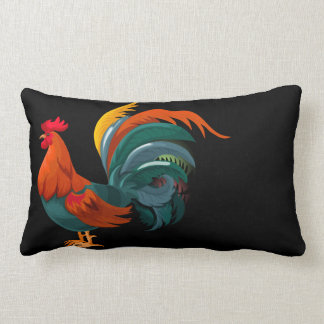 Fancy Rooster Lumbar Cushion