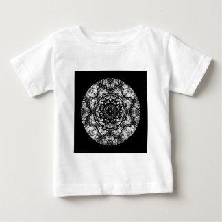 Fancy Round Design on Black. Baby T-Shirt