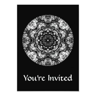 Fancy Round Design on Black. Card