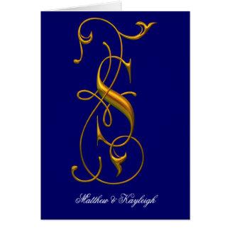 Fancy S Monogrammed Greeting Card