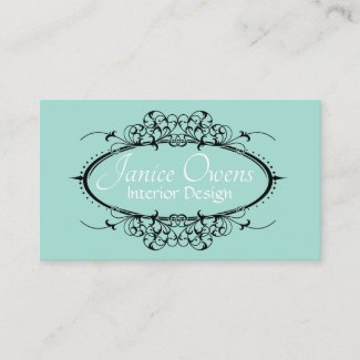 Fancy Scrollwork Frame Business Card