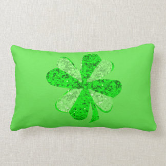 "Fancy Shamrock Lumbar Pillow 13"" x 21"""