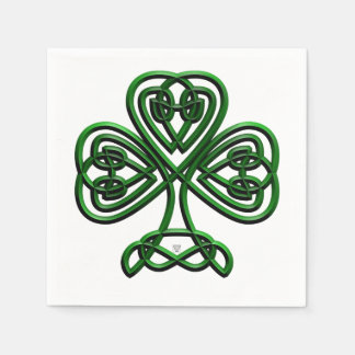 Fancy Shamrock Paper Napkins