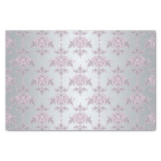 Fancy Silver and Pink/Purple Damask Tissue Paper