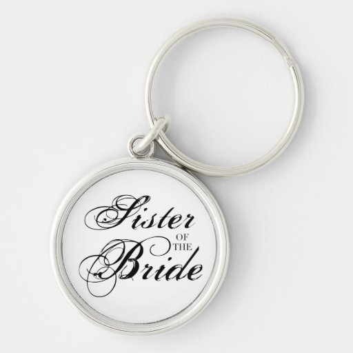 Fancy Sister of the Bride Black Key Chains