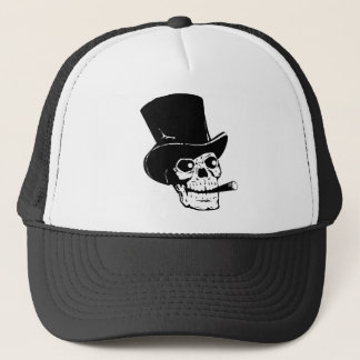 Fancy Skull Trucker Hat