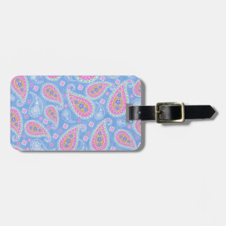fancy sky Blue Paisley design Tag For Luggage