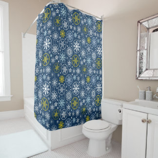 Fancy Snowflake Shower Shower Curtain