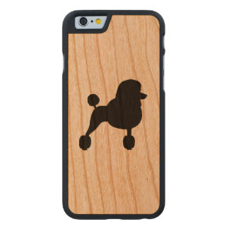 Fancy Standard Poodle Silhouette Carved Cherry iPhone 6 Case