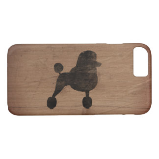 Fancy Standard Poodle Silhouette Rustic iPhone 8/7 Case
