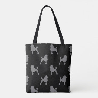 Fancy Standard Poodle Silhouettes Pattern Tote Bag