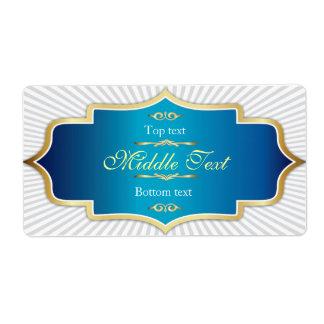 Fancy Style Jam Jelly Label Blue Shipping Label