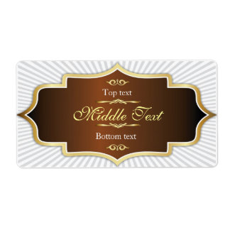 Fancy Style Jam Jelly Label Brown Shipping Label