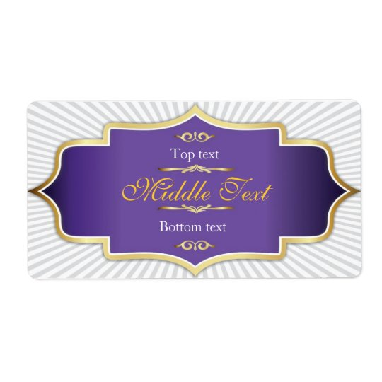 Fancy Style Jam Jelly Label Purple Shipping Label