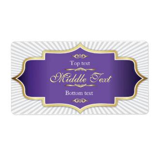 Fancy Style Jam Jelly Label Purple Shipping Label