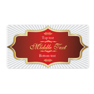 Fancy Style Jam Jelly Label Red