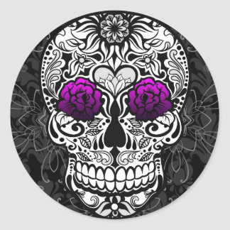 Fancy Sugar Skull Day of the Dead Sticker