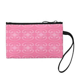 Fancy Swirl Pattern in Pink. Coin Wallet