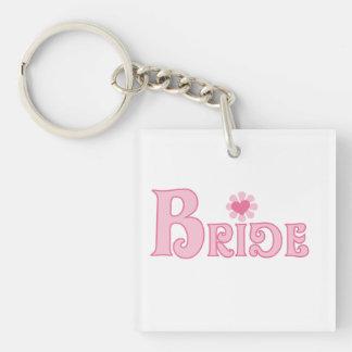 Fancy Text Bride Key Chain