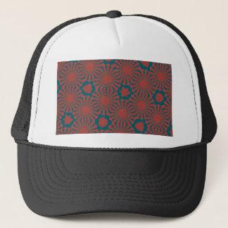 fancy tile trucker hat