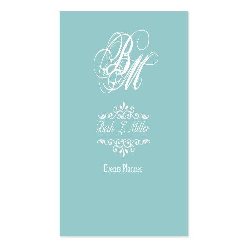Fancy Times  Monogram Business Card