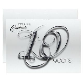 Fancy Tin 10th Wedding Anniversary Invitation