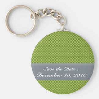Fancy tiny yellow circles on dark green background key chain
