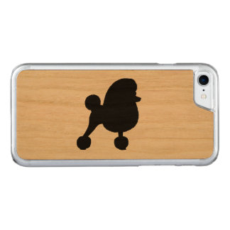 Fancy Toy Poodle Silhouette Carved iPhone 8/7 Case