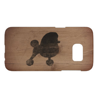 Fancy Toy Poodle Silhouette Rustic