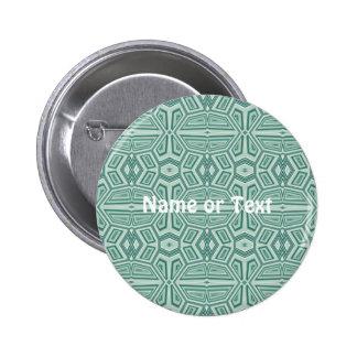 Fancy Tribal Pattern,aqua 2 Inch Round Button