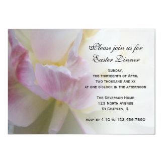 Fancy Tulip Easter Dinner 13 Cm X 18 Cm Invitation Card