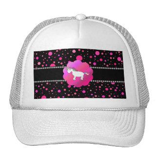 Fancy unicorn pink polka dots trucker hat