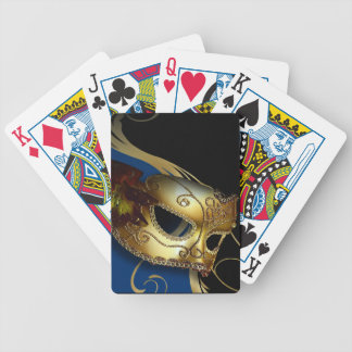 Fancy Venetian Masquerade royal blue | gold Poker Cards