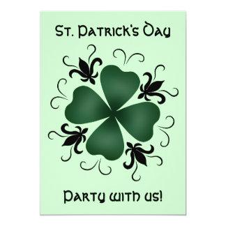 Fancy victorian shamrock St Patricks Day 13 Cm X 18 Cm Invitation Card
