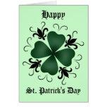 Fancy victorian shamrock St Patricks Day Cards