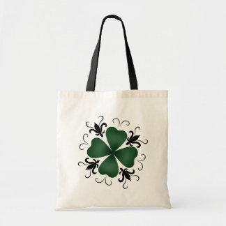 Fancy victorian shamrock St Patricks Day Tote Bag