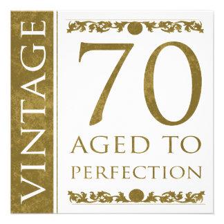 Fancy Vintage 70th Birthday Custom Invite