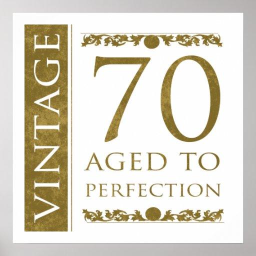 Fancy Vintage 70th Birthday Poster