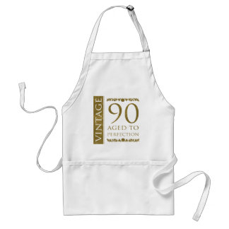 Fancy Vintage 90th Birthday Standard Apron