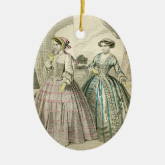 Fancy Vintage Victorian Christmas Ladies Edwardian Christmas Ornament