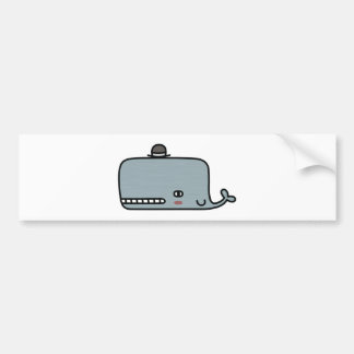 Fancy Whale Bumper Sticker