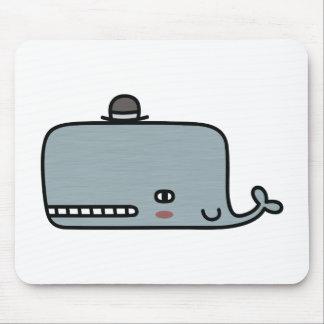 Fancy Whale Mousepads