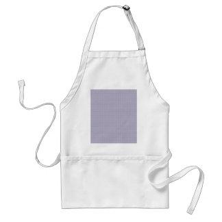 Fancy white circles on light grey background apron