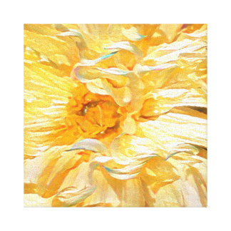 Fancy Yellow Dahlia Canvas Print